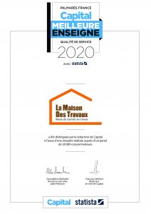 La Maison Des Travaux élue meilleure enseigne 2020 pour sa qualité de service à Deauville