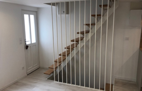 Pose d'un escalier à Trouville
