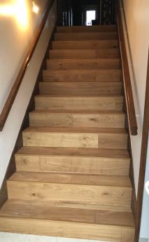 Rénover un escalier en bois à Deauville