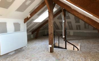Aménagement des combles d'une maison à Deauville