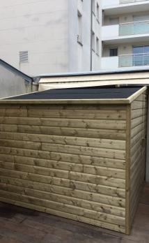 Création d'une abri de jardin en bois à Deauville