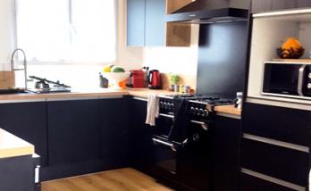 Rénovation de la cuisine d'un appartement à Deauville