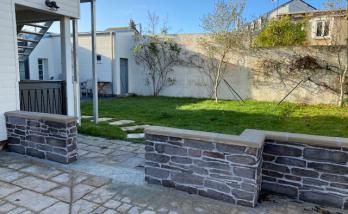Rénover un mur extérieur à Trouville