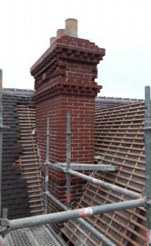 Rénovation d'une cheminée dans une propriété à Deauville